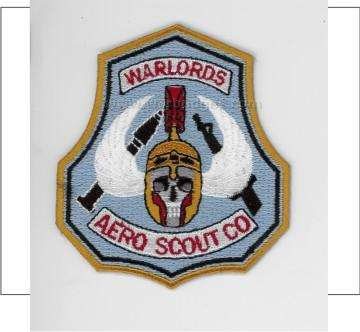 123rd Warlords Aero Scouts 3 inch patch Pa 146