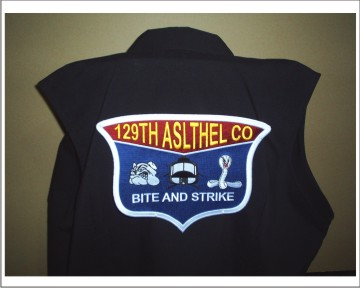 "129th. 10"" Jacket Patch JP 2"