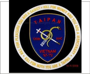 135th Taipan 10inch jacket  patch JP 10