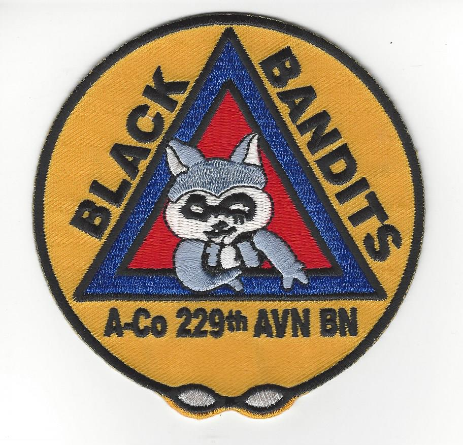 229th Black Bandits 4 inches