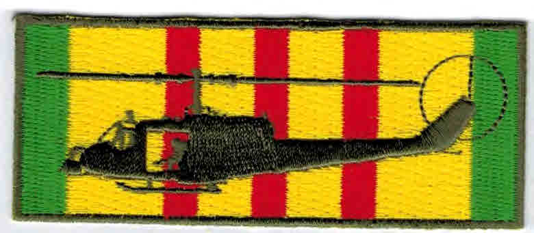 Vietnam service patch Huey Gunship Hsp 2