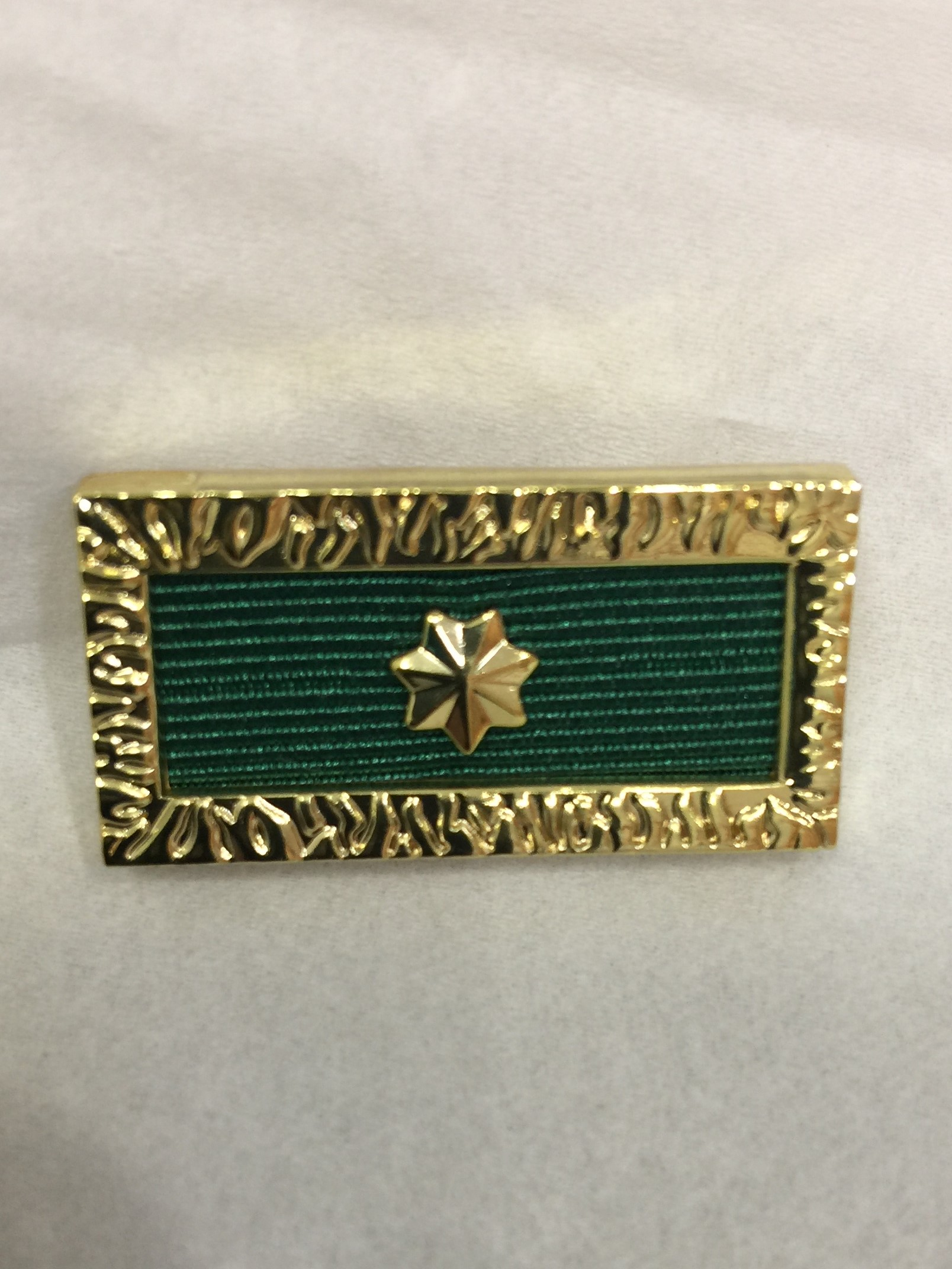 Citation for Gallantry Ribbon CP 1